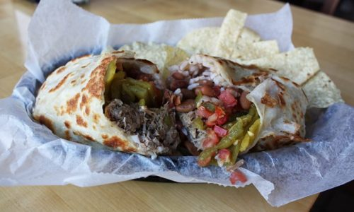 My burrito was tasty!